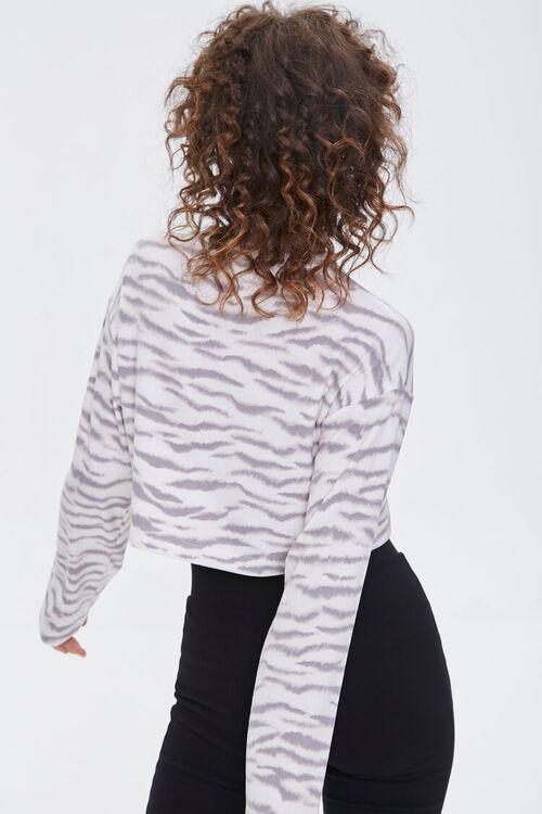 Tiger Striped Boxy Pajama Top, image 3
