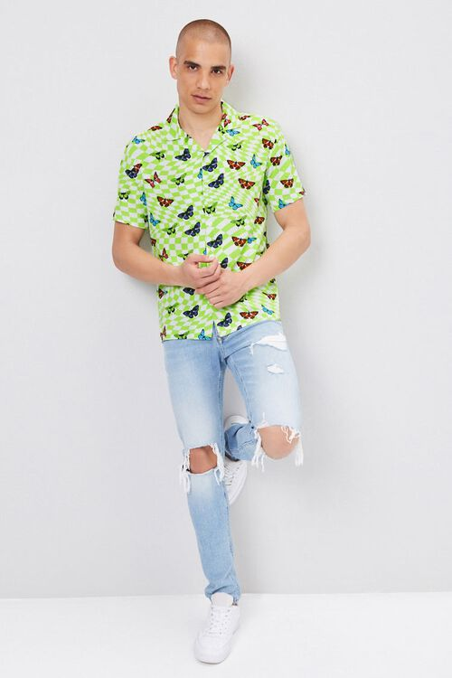 Classic Fit Checkered Butterfly Shirt, image 4