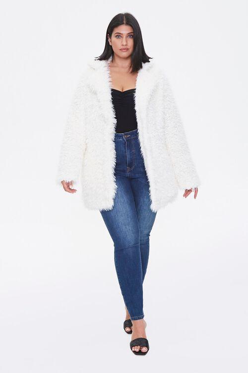 Plus Size Shaggy Faux Fur Coat, image 4