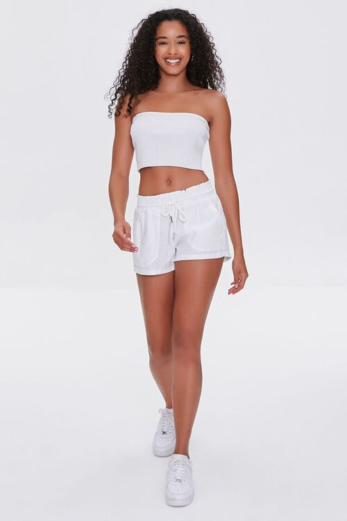 Linen-Blend Drawstring Shorts, image 5