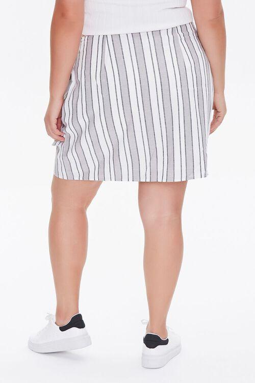 Plus Size Linen-Blend Striped Skirt, image 4