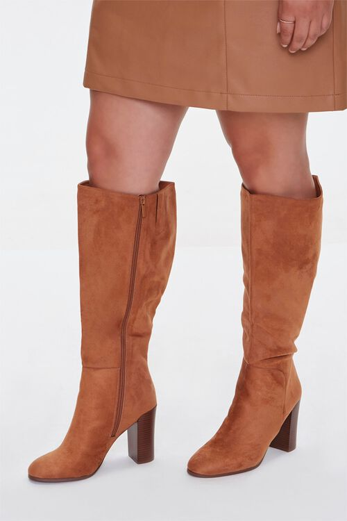 Faux Suede Knee-High Boots (Wide), image 1