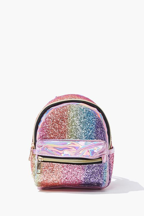 Girls Metallic Glitter Backpack (Kids), image 1