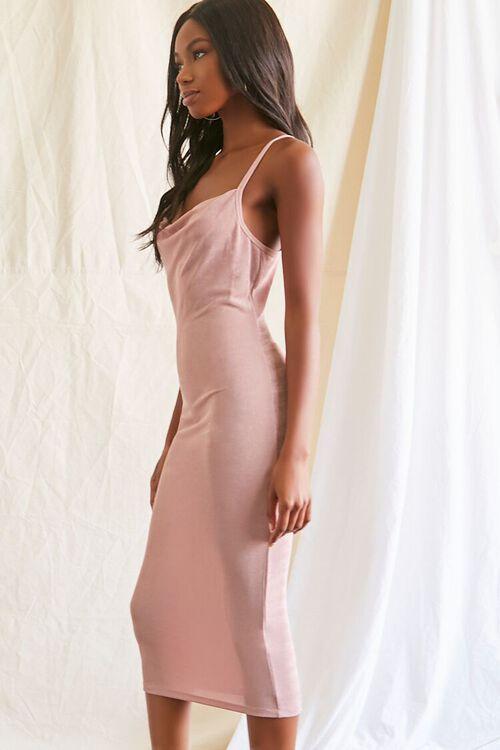 MAUVE Cowl Neck Cami Midi Dress, image 2