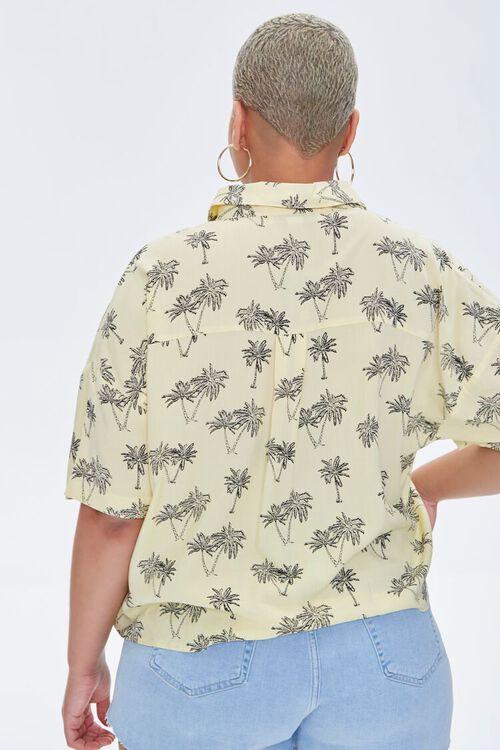 Plus Size Palm Tree Print Shirt, image 3