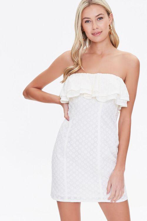 CREAM Eyelet Flounce Mini Dress, image 1