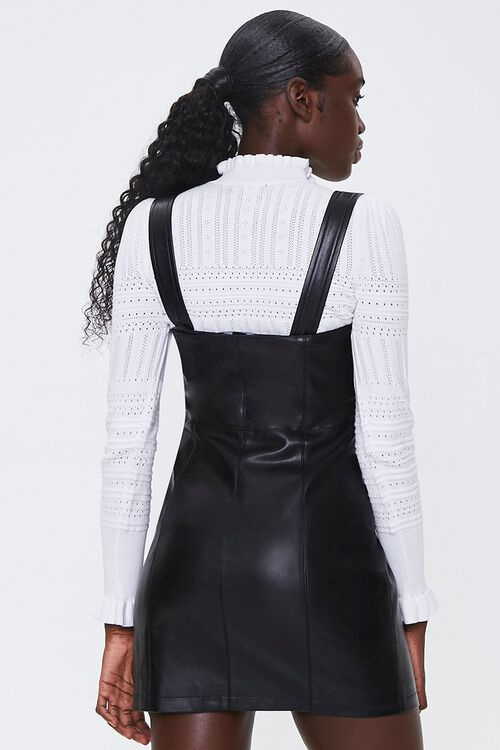 Faux Leather Pinafore Dress, image 3