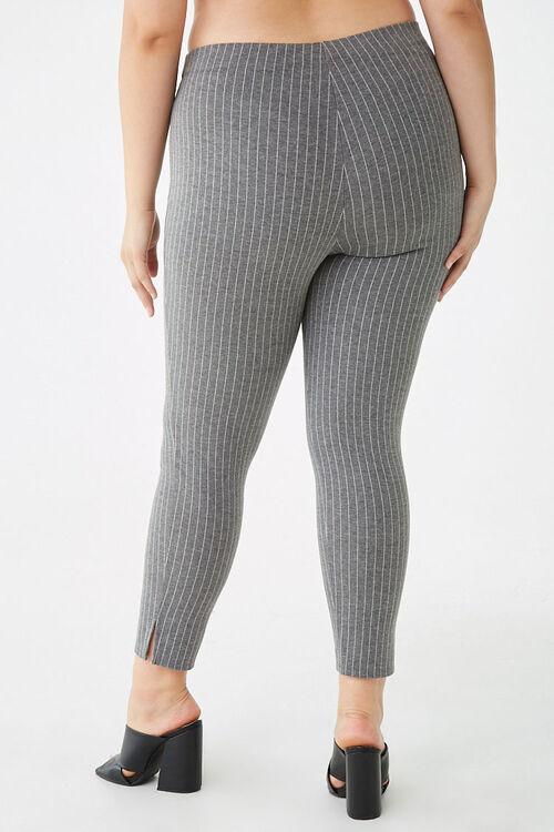 Plus Size Pinstriped Leggings, image 4