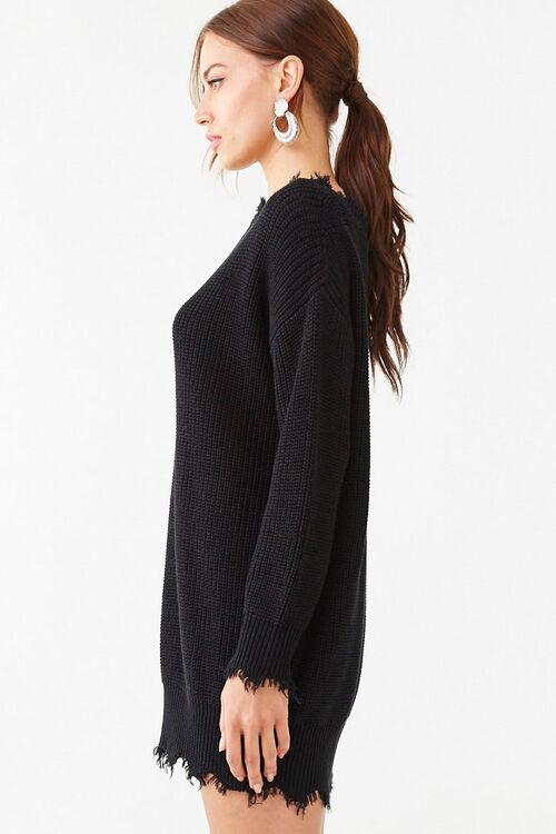 Distressed Mini Sweater Dress, image 2