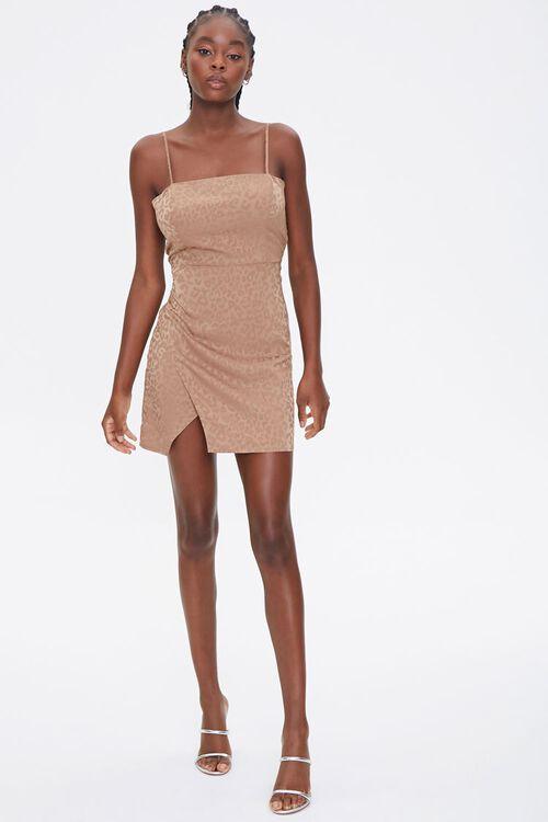 Satin Leopard Print Dress, image 4