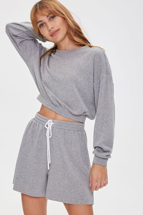French Terry Pullover & Shorts Set, image 1