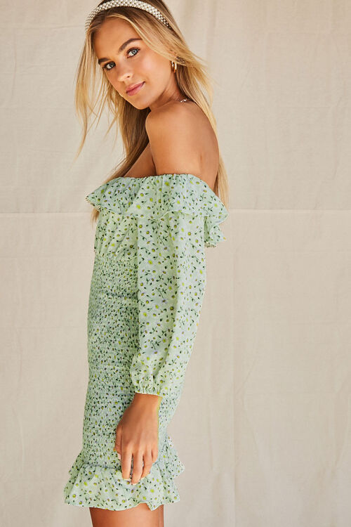 Daisy Smocked Off-the-Shoulder Dress, image 2