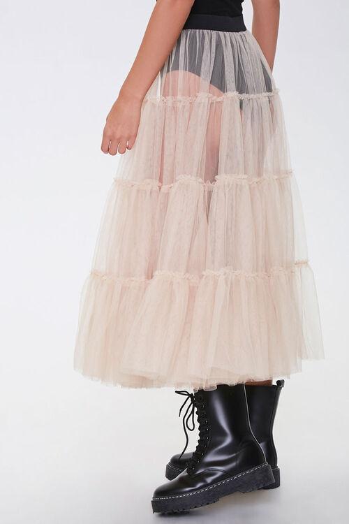 Sheer Tiered Midi Skirt, image 3