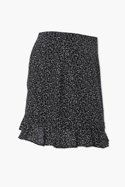 Plus Size Floral Self-Tie Mini Skirt, image 2