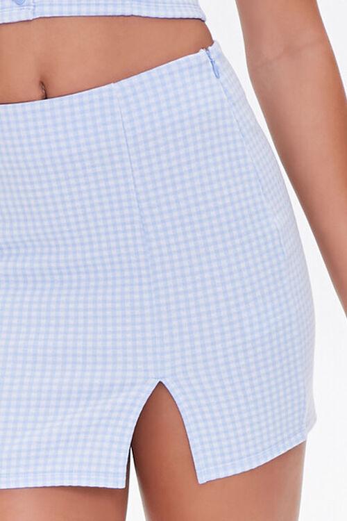 BLUE/WHITE Gingham Mini Skirt, image 5