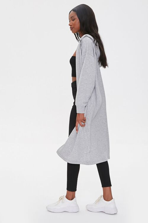 Hooded Longline Cardigan Sweater, image 3