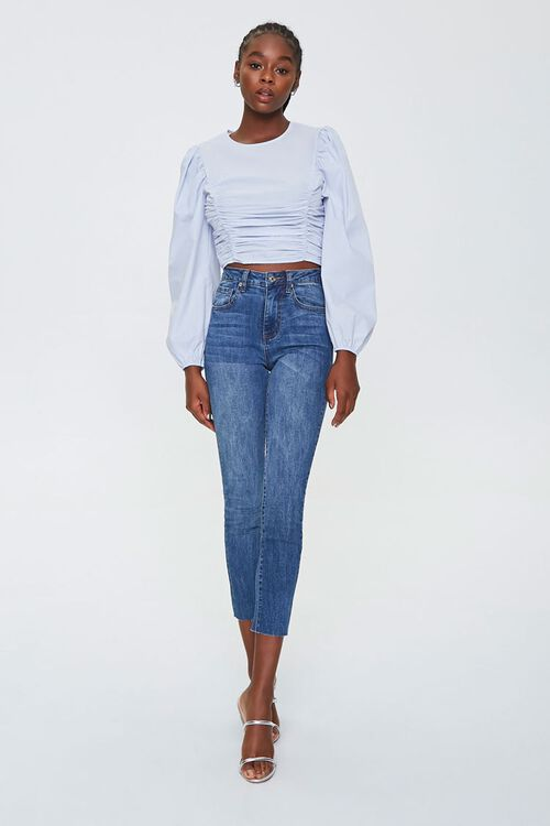 Ruched Poplin Top, image 4
