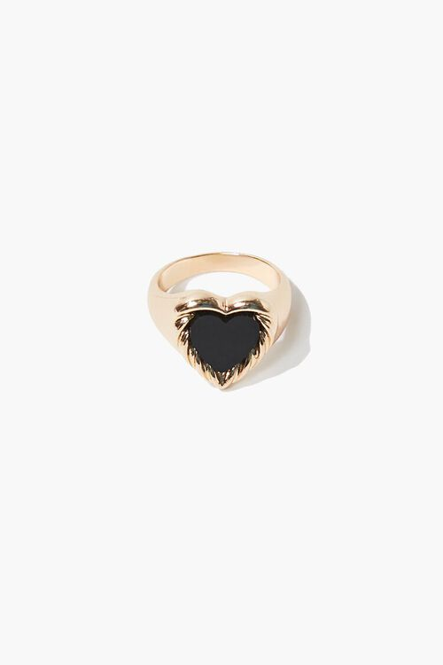 Opaque Heart Cocktail Ring, image 1