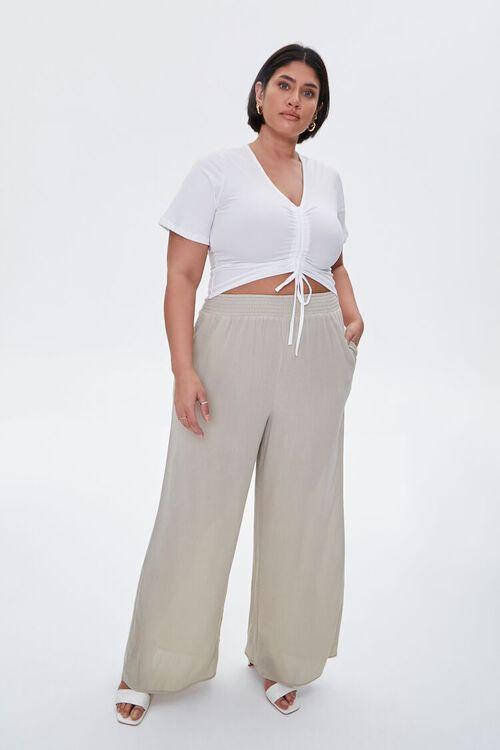 Plus Size Wide-Leg Pants, image 1