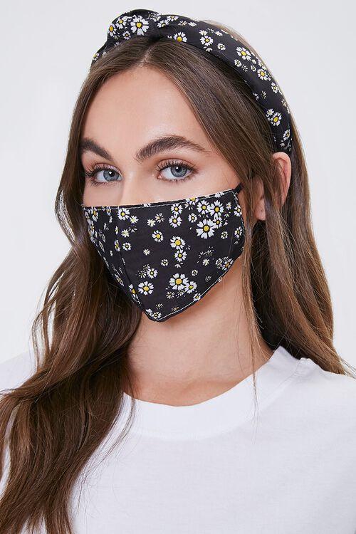 Floral Headband & Face Mask Set, image 1