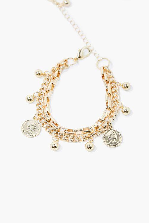 Upcycled Layered Charm Necklace, image 1