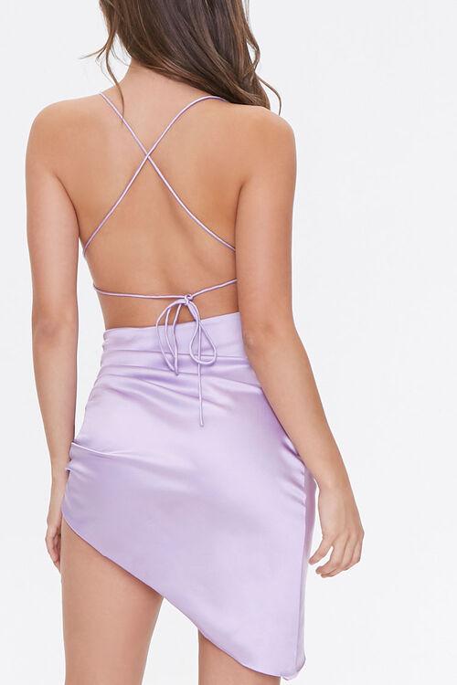 Satin Lace-Up Back Dress, image 3
