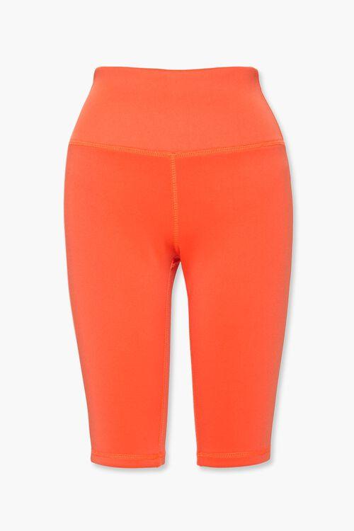 ORANGE High-Rise Biker Shorts, image 1