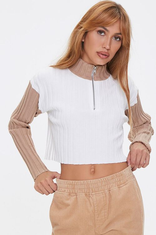 Sweater-Knit Colorblock Pullover, image 1