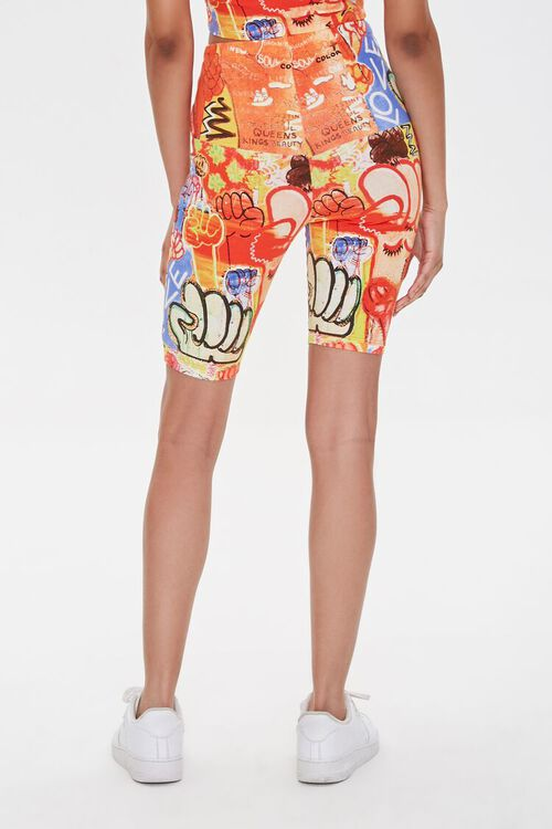 Ashley Walker Graffiti Print Biker Shorts, image 4