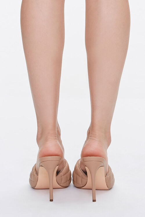 Quilted Open Toe Heels, image 3