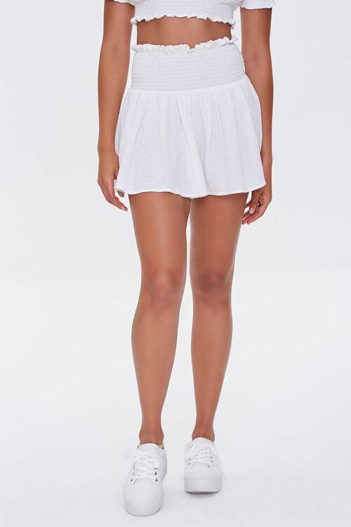 Smocked Mini Skirt, image 2