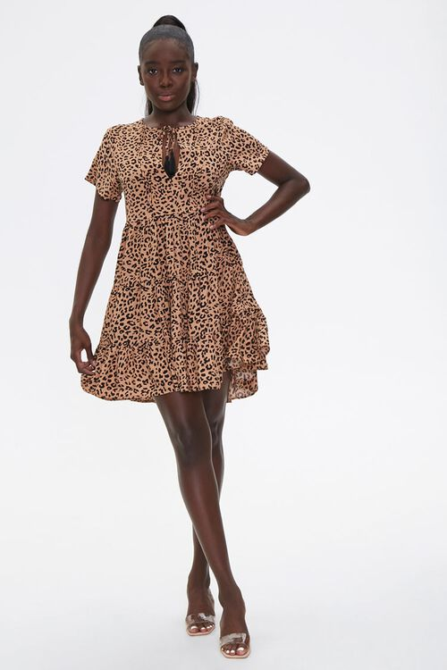 Sleeveless Cheetah Print Romper, image 4