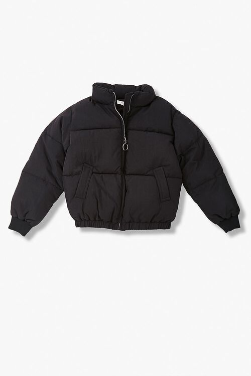 Girls Pull-Ring Puffer Jacket (Kids), image 1