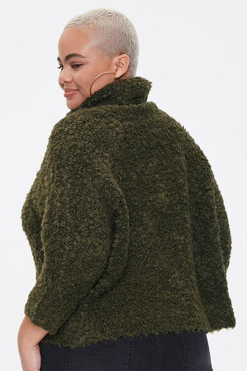 Plus Size Boucle Turtleneck Sweater, image 3