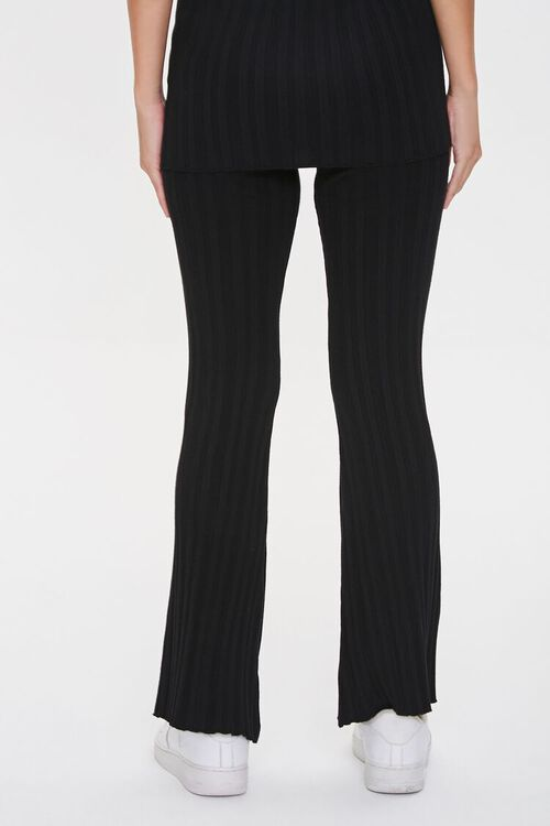 Ribbed Flare-Leg Pants, image 4