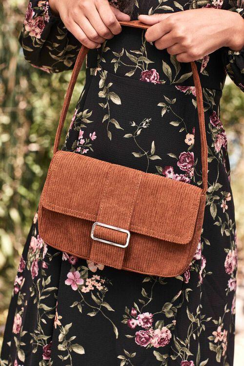 BROWN Corduroy Shoulder Bag, image 1