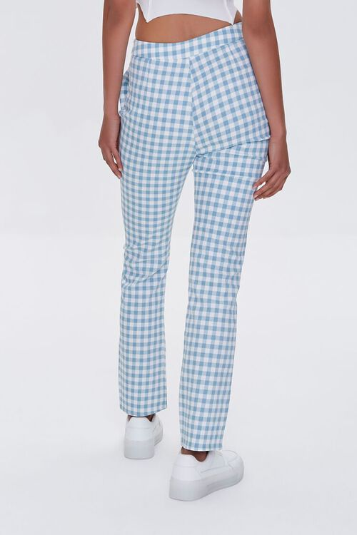 Gingham Straight-Leg Pants, image 4