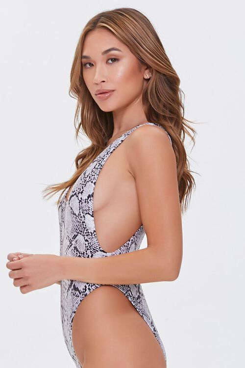 Snake Print One-Piece Swimsuit, image 2