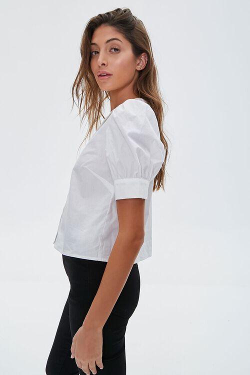 Crochet Lace Puff-Sleeve Shirt, image 2