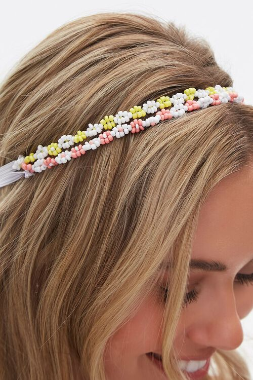 Beaded Floral Headband, image 3