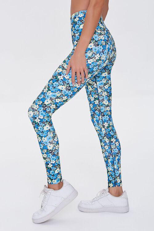 BLUE/MULTI Active Floral Print Leggings, image 3