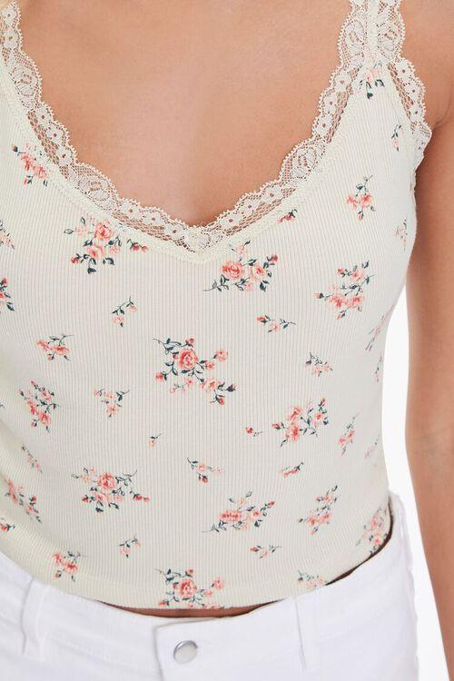 Floral Print Lace-Trim Cami, image 5