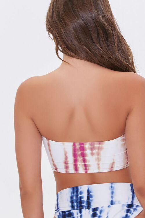 MAGENTA/WHITE Tie-Dye Tube Bikini Top, image 3