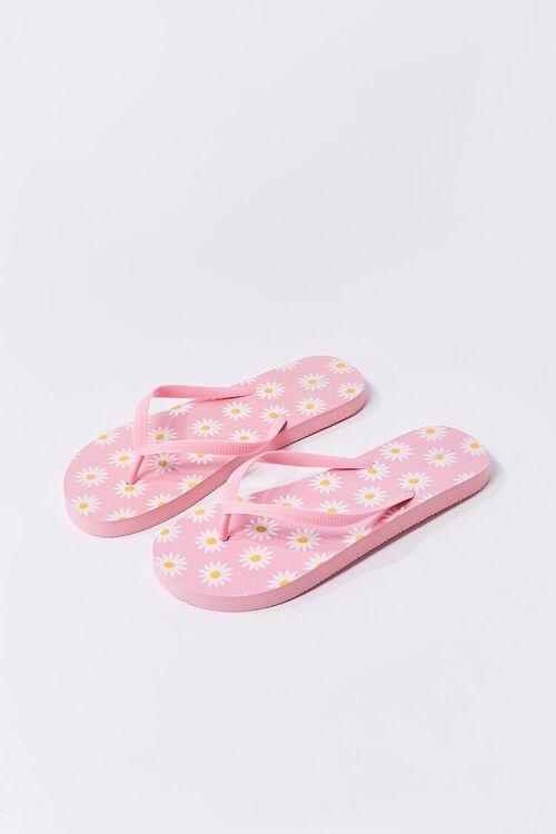 Daisy Print Flip-Flops, image 1