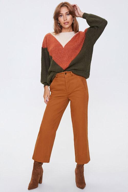 Colorblock Chevron Sweater, image 4