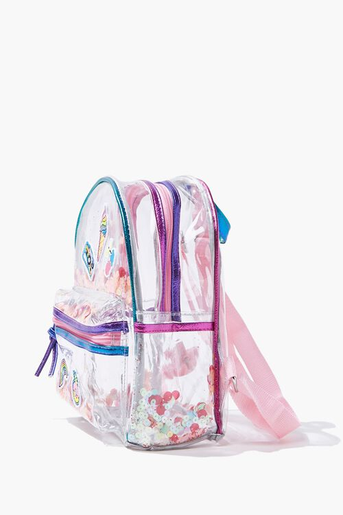 Girls Transparent Sequin Backpack  (Kids), image 2