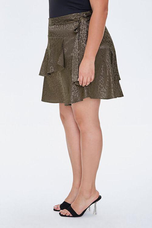 Plus Size Leopard Print Skirt, image 2