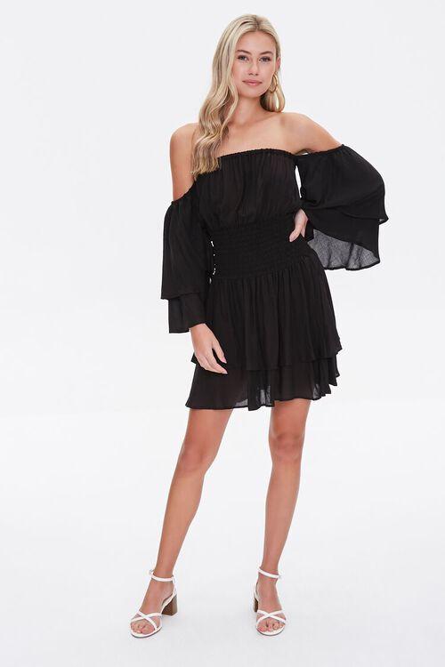 Tiered Flounce Mini Dress, image 4