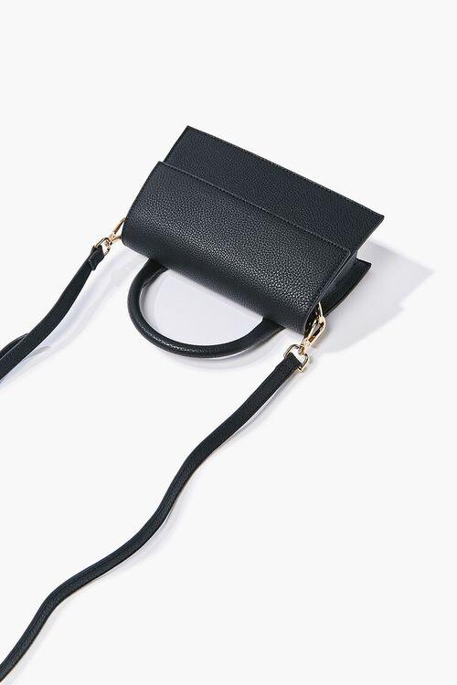 BLACK Structured Flap-Top Crossbody Bag, image 3