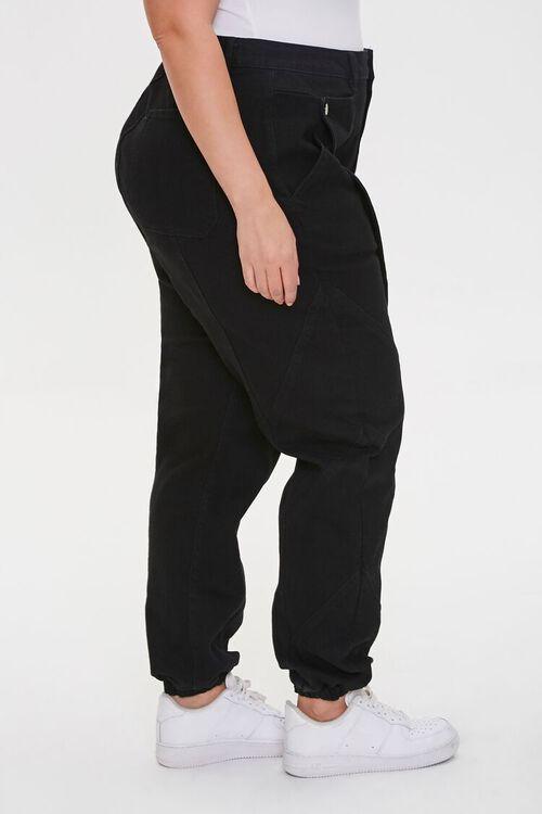 Plus Size Distressed Denim Joggers, image 3